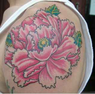 Shoulder Peony Tattoos For Women