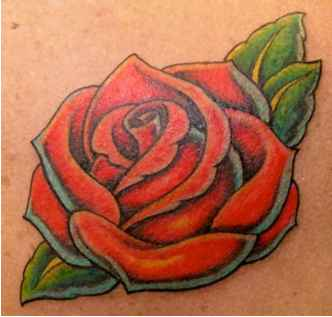 Out Lines Rose Tattoos