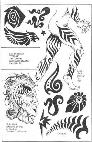 Tattoo Design Black Only