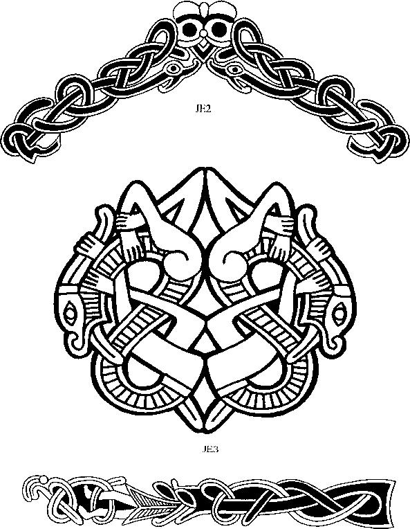 jellinge style - viking art